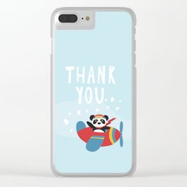 Panda says Thanks! Clear iPhone Case