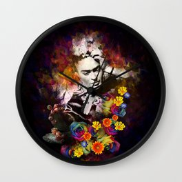 The colors of Frida Wall Clock