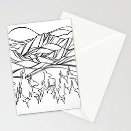 Mountain Pulse Stationery Cards