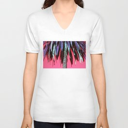 Palm Tree Neon Unisex V-Neck