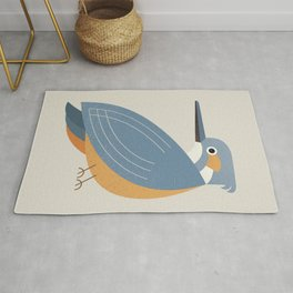 Whimsy Blue-eared Kingfisher Rug