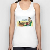 hunter s thompson Tank Tops featuring Hunter S. Thompson, The Rum Diary by Abominable Ink by Fazooli