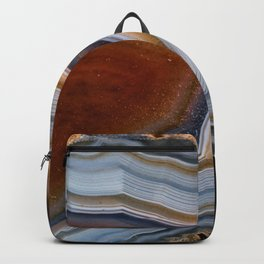 Layered agate geode 3163 Backpack