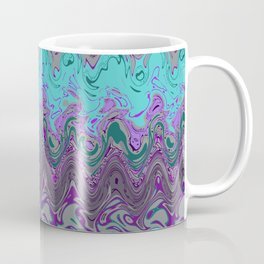 Marble pattern turquoise purple Coffee Mug