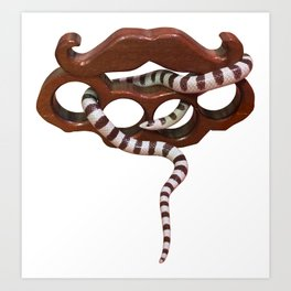 Barbers Knuckles CA king snake Art Print