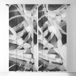White paper stripes Blackout Curtain