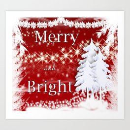 Christmas Merry and Bright Art Print