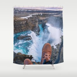 Edge of Gullfoss Shower Curtain