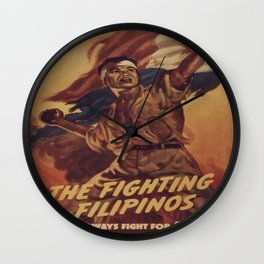 Vintage poster - The Fighting Filipinos Wall Clock