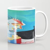 pablo picasso Mugs featuring Picasso Head 2000 by Artist_Fran_Doll