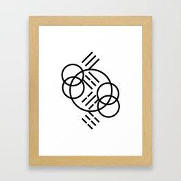3-4-5-6_001_bw Framed Art Print