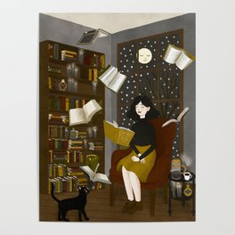 floating books Poster
