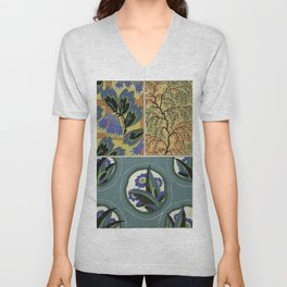 vintage natural pattern Unisex V-Neck