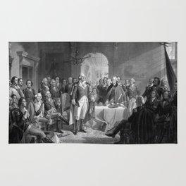 Washington Meeting His Generals Rug