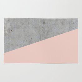 Concrete and Pale Dogwood Color Rug