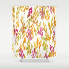 180726 Abstract Leaves Botanical 12 |Botanical Illustrations Shower Curtain