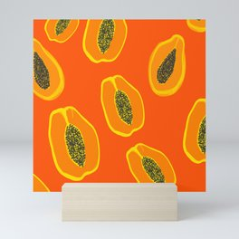 Sarah - papaya Mini Art Print