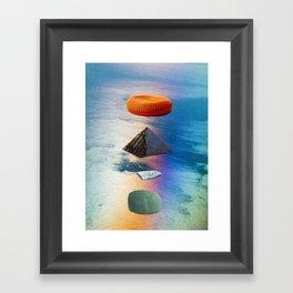 pyramid stack Framed Art Print