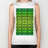 green pattern Biker Tanks featuring Green pattern. by Assiyam