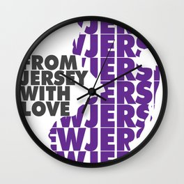 From Jersey with Love Wall Clock