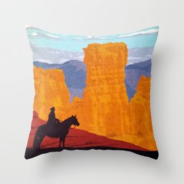 Bryce Canyon National Park Travel Poster Throw Pillow