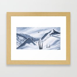 'Chads Gap' Iconic Snowboarding Moments Framed Art Print