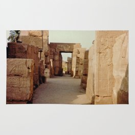 Ruins at the Karnak Temple Complex in Egypt Rug