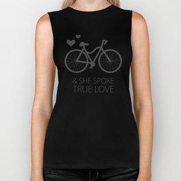 She Spoke Love Biker Tank