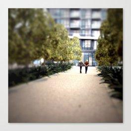 A Quiet Walk Mini Canvas Print