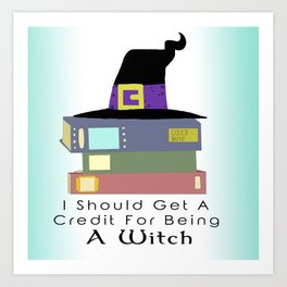 College Witch Art Print