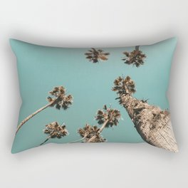 {1 of 2} Palm Trees = Happy // Teal Summer Sky Rectangular Pillow