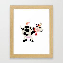 Miss Cow Framed Art Print