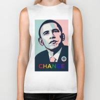 obama Biker Tanks featuring Obama LGBT by HUMANSFOROBAMA