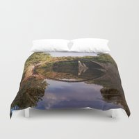geology Duvet Covers featuring Mystical stone arch by UtArt
