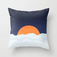 Sun On Mars Throw Pillow