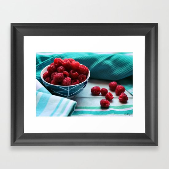 Ruby Delicious - Raspberry Still Life Framed Art Print