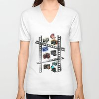 cameras V-neck T-shirts featuring Iconic Cameras! by CRankin