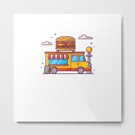 Fast food truck Metal Print