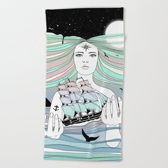 Journey to A Greater Existence (Your Life On Your Hands) Beach Towel