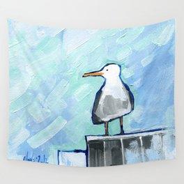 Skipper Seagull Wall Tapestry