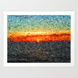 burning summer Art Print