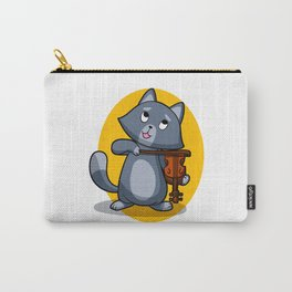 Cat playing the violin Carry-All Pouch