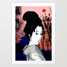moon rising Art Print