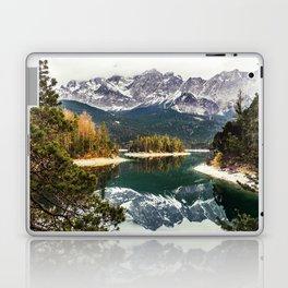 Green Blue Lake, Trees and Mountains Laptop & iPad Skin