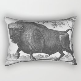 Vintage  of Buffalo published in 1745-1747 by Thomas Astley Rectangular Pillow