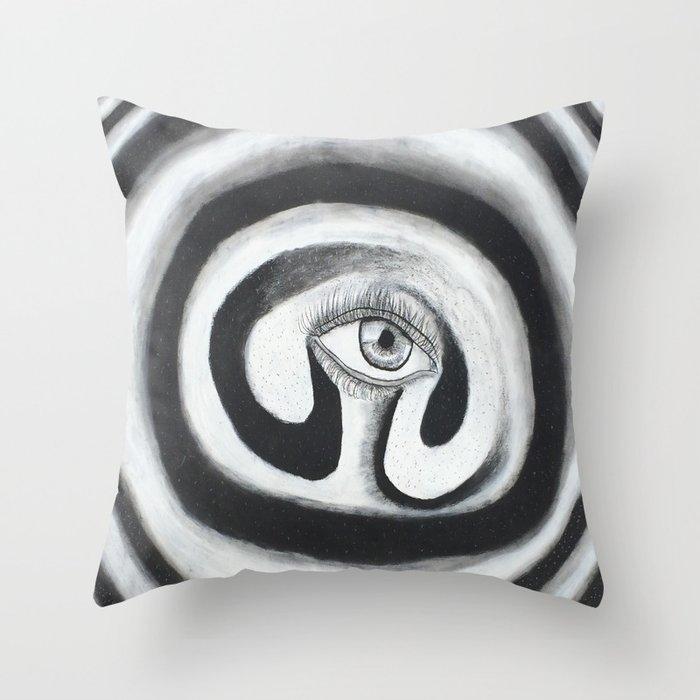 Eye Spiral Out Throw Pillow