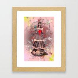 dark lady Framed Art Print