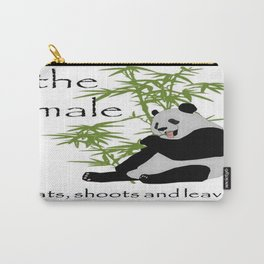 The Male Eats, Shoots and Leaves Carry-All Pouch