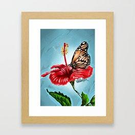 Butterfly on flower 2 Framed Art Print