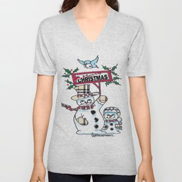 Holly Jolly Christmas Unisex V-Neck